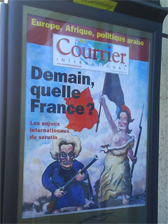 affiche du courrier international