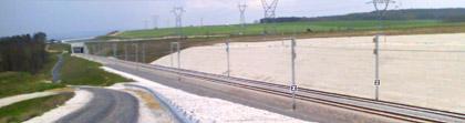 la future ligne TGV EST en direction de Reims