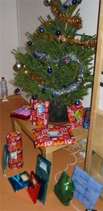 Le sapin et les cadeaux chez Doudou